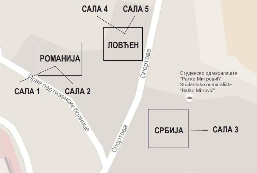 Mapa za program
